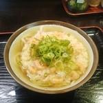 讃岐うどん ゆり - かまかけうどん(小)・小えび天ぷらトッピング