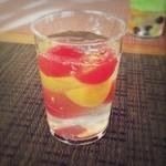 モスバーガー - ★今週の期間限定★ 『べジジュエル  ミニトマトのジュレ仕立』さっぱりフレッシュで美味しかった!(●'ᴗ'●)✧