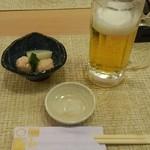 丸和 - 生ビールとお通し
