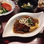 Umekisanchinodaidokoro - おすすめ定食(620円)ロールキャベツのデミグラスソース