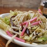 らーめん 中 - 野菜炒め