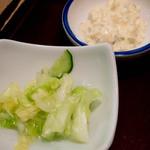タレカツ - 漬け物、タルタルソース