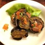 La Coccinella - 茄子のマリネ、トマトとサラダ菜=2014年5月