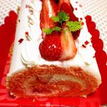 コート・ダジュール - 苺のロールケーキ☆