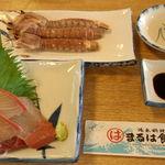 まるは食堂旅館 - 蝦蛄とハマチ