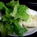 焼肉きくや - サービスの野菜