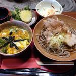 そば玄 - しらさぎセット(おろし蕎麦+玉子丼)1050円(2014.05)