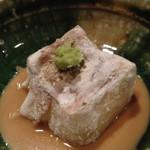 銀座 日本料理 朱雀 - 焼き胡麻豆富