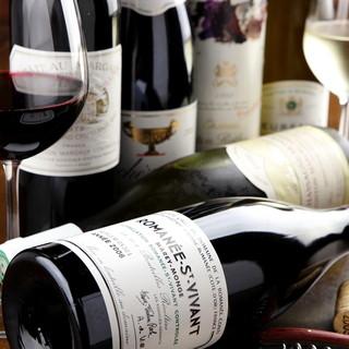 ワインマニアのオーナーシェフが厳選した、こだわりのワイン