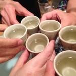 きくち - 2014/5/17 日本酒で、2回目の乾杯!