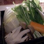 かごしま黒豚 六白亭 - しゃぶしゃぶの野菜