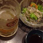 靜月 - ビールと煮こごり