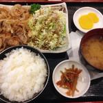 王寿庵 - 料理写真:生姜焼き定食