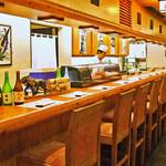 北海道料理ユック 北の海道 - カウンター席