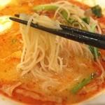 健康中華庵 青蓮 - 胡麻担々麺:麺リフト  スープはなかなかいいのに、 この麺が酷い(ー ー