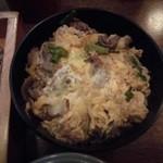 芭蕉庵 - 牛とじご飯は素朴な味
