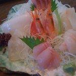 かわせみ - 翡翠のお皿がお魚を引き立ててます