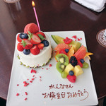 ザ・バージェイダブリューハート - お誕生日のケーキプレート