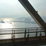 手打うどん たむら - 瀬戸大橋を渡る頃、日の出