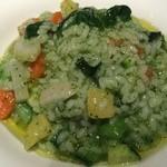 27391552 - 野菜のリゾット(春菊・人参・カブ`)