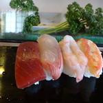 敏鮨 - 料理写真:まぐろ、はまち、えび、かに
