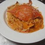 BISTRO WAKU2 - ワタリガニのスパゲッティー 皆が好きな定番のパスタです スープとサラダ付きで1400円です