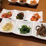 韓国料理 水刺齋 - コースの付け合せ