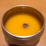 韓国料理 水刺齋 - コースのパンプキンスープ