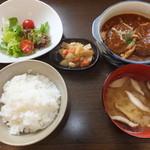 ほほえみカフェ - ほほえみランチ 煮込みハンバーグ 600円 【 2014年5月 】