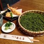 京都 権太呂 - 5月限定、茶切天ざるそば お茶の香りをお楽しみ下さい!
