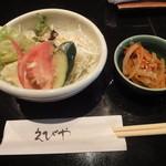 えびや - 料理写真:サラダと金平