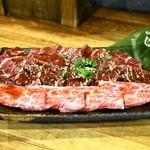 ホルモン焼肉 肉の大山 - 2014.5 三種盛(1,450円)上カルビ、上ロース、上ハラミ
