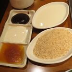 27425448 - ソース類と小麦粉&パン粉