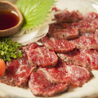 店主の故郷熊本直送馬肉のたたき
