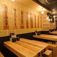 魚串 炙縁 - テーブル席は多数あり