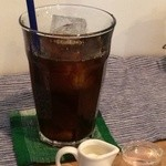 カフェ ヒュッグリー - ドリンクは、アイスコーヒーを選びました