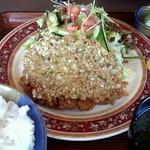 まつば - 納豆かつ ¥1500