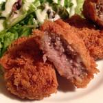鶏Dining Bird Place - メンチカツ(^^)  豚、牛も少しだけ加えてるみたいです(^^)