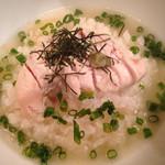 鶏Dining Bird Place - 鶏ガラスープに軽く味付けした、  出汁茶漬け