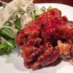 鶏Dining Bird Place - エビチリの 鶏バージョン⁇  不思議な味でした(^^)  お酒が進みました(^^;;