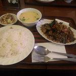 バンコク - なすと挽き肉の炒め物