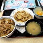 吉野家 - 並・卵・みそ汁、そして豚皿!!