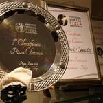 ファンタジスタ ドゥエ - ナポリピッツァ職人コンテスト クラシカ部門優勝の盾