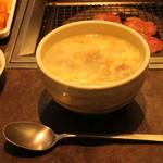 山水園 - これは必ず毎回注文するコムタンスープ★毎日飲みたい。