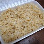 蘭 - 玄米ご飯です。