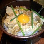 鶏専門 日向暁荘 - 親子丼@ランチセット・アップ