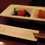 日本酒とお刺身 秋丸 - お通し