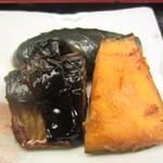 富士寿司 - 2013.09.02 小鉢のかボヤと茄子