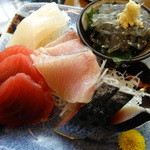 海人市場 - 刺身定食の刺身アップ