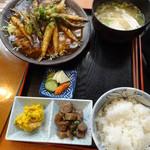 海人市場 - シコイワシの唐揚げ甘酢ソース定食